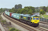 24th May 07: Shiny 66587 hurries East with the return Wentloog to Southampton liner