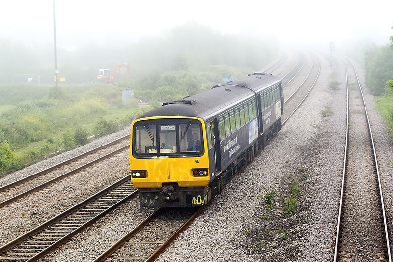 24th May 07:  146617 rattles out of the mist on a Westbury Cardiff service