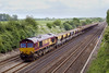 31st May 07:  66205 brings a mixed rake on the Hayes to East Usk empty hoppers