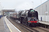 30th May 07:  In heavy drizzle 71000 runs through Wokingham on the outward leg of the Cathedrals Express to Cranmore