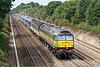 "24th Aug 07:  In a rare patch of afternoon sun D1748 ""Great Western"" heads the 5Z47 stock move from Laira to Ilford through Shottesbrooke"