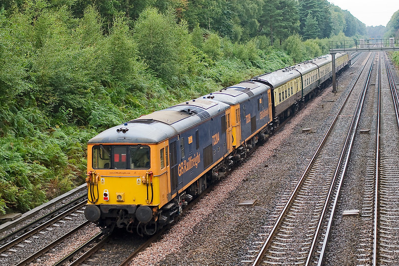 22nd Aug 07: 73204 & 209 bring up the rear. They will lead on the return journey