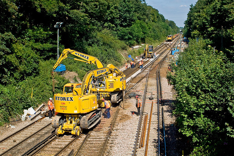 25th Aug 07:  The junction at Virginia Water is being relayed