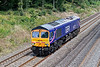 7th Aug 07:  66727 passes the Duffield Road bridge working as 0Z90 Wembley to St Phillips Marsh