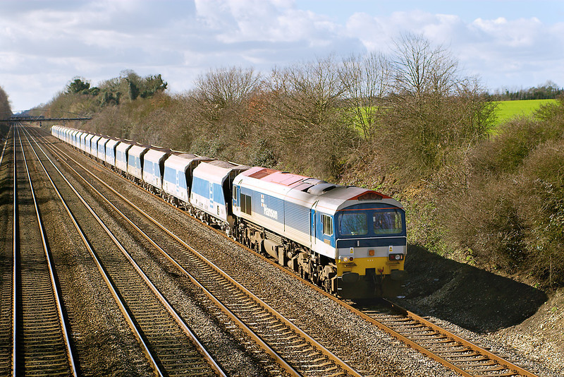 1st Mar 07: 59103 'Village of Mells' is in charge of 7A17 from Merehead to Acton