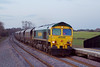 6th Mar 07:  Hurrying down hill as the light fails 66503 with 6M51 Hull to Rugeley Power Station coal