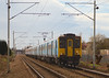 13th Mar 07: 317886 in Stanstead Express branding heads North over Trinity Crossing mid way between Waltham Cross and Cheshunt