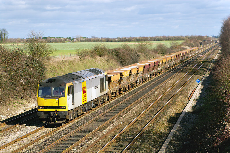 !st Mar 07:  60014 brings 6C23 the Hayes to East Usk empty hoppers