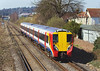 26th Mar 07: The conventional view from the bridge as 458025 works a Waterloo to Weybridge all stations away fron Chertsey