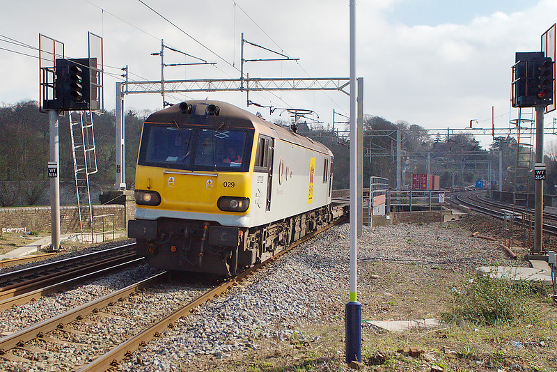 15th Mar 07:  EWS 92029, 4H24 Wembley to Trafford Park Intermodal