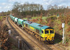 2nd Mar 07:  Running as  6O49  Freightliner 66526 with the new! bogie Hoppers from Neasded to Wool.  They will be used on the Sand service from Monday