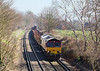 26th Mar 07:  66133 leads 6M44 away fron the M25 bridge as it passes through Lyne