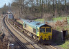 9th Mar 07: 66501 has a load of only 2 boxes on the Crewe to Southampton