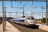 4th Sep:  TGV 4527 pauses at Sete with a Perpignon to Paris service