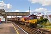 26th Sep 07: 66117 runs through Millbrook station hauling 6M23 from Fawley to Washwood Heath