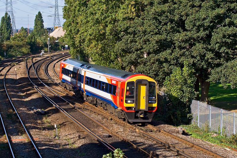 26th Sep 07: 158882 on the Totton to Romsey Shuttle