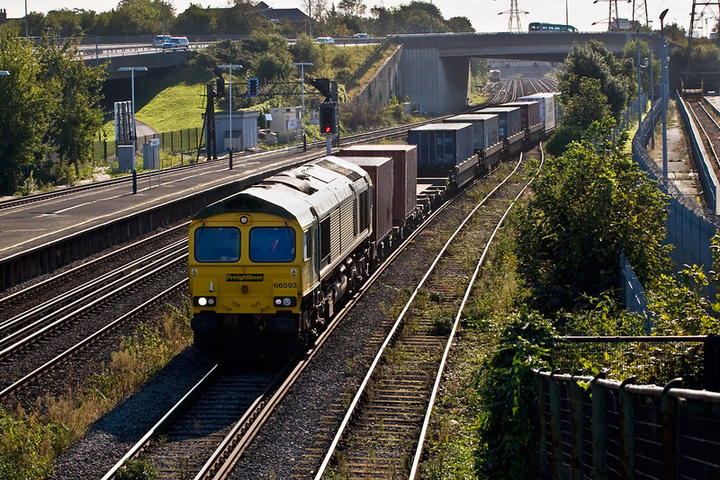 26th Sep 07:  66593 enters the reception line for Maritime on the 05.09 from Lawley Street
