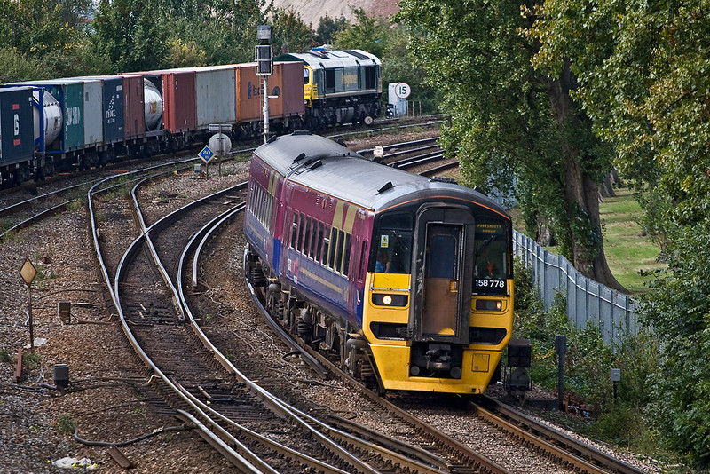 26th Sep 07: 158778 nears journey's end on  a Cardiff to Portsmouth service