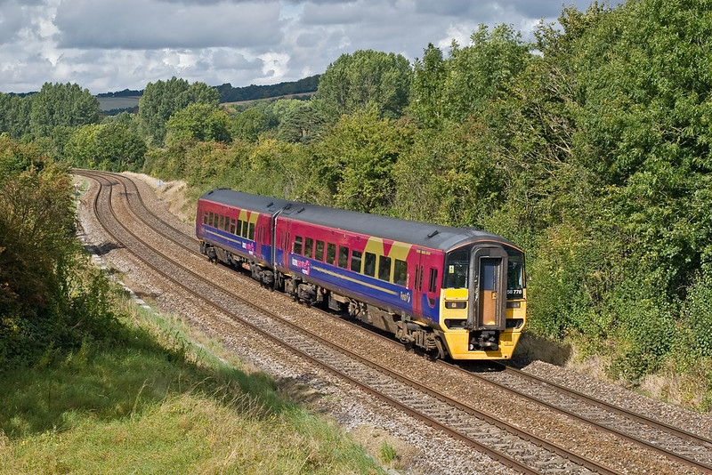 22nd Sep 07:  158778 scoots through Sherrington with a service to Portsmouth Harbour