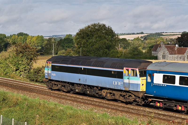 22nd Sep 07:  47818 in 'One' livery brings up the rear