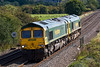 18th Sep 07: 66619 & 66528 north bound. They were running in the path of the Hinksey to Stud Farm departmental.