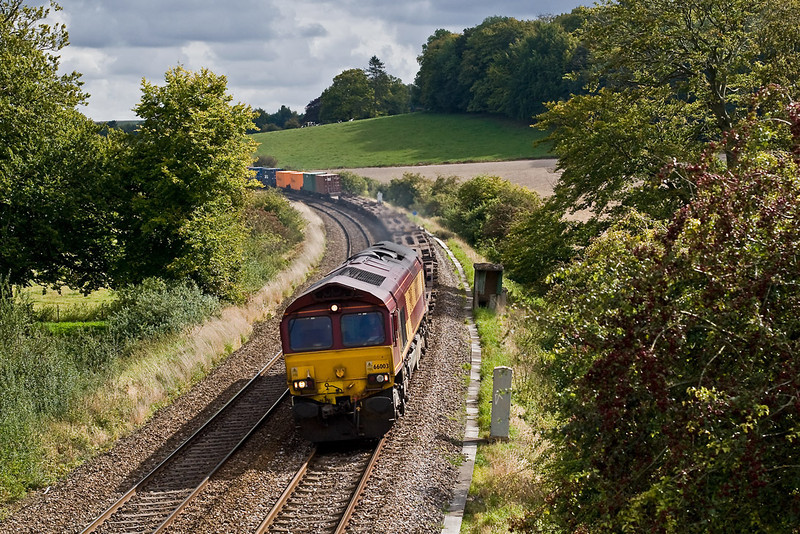 22nd Sep 07:  66003 on a Northbound diverted Intermodal at Sherrington