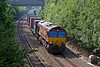 12th Sep 07:  66230 heads a very well loaded Marchwood to Didcot MOD service