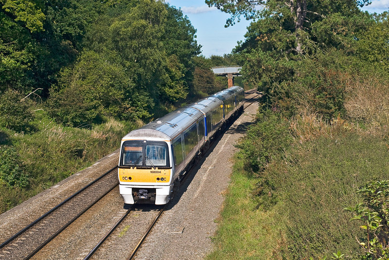 18th Sep 07:  My first shot of the day. 168004 on a Birmingham to Marylebone service