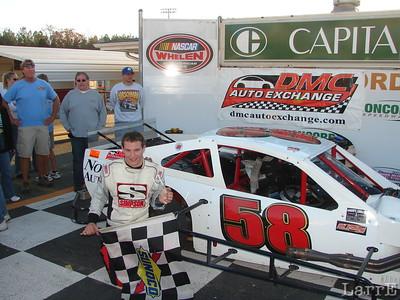 #58 Matt Hirschman won the 50 lap race