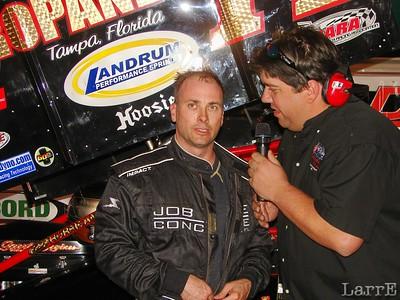 Dave Steele won the TBRA sprint car feature