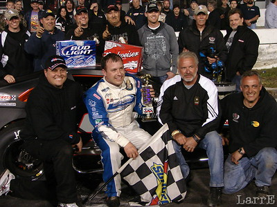 Ryan Newman is a happy winner of the modified feature
