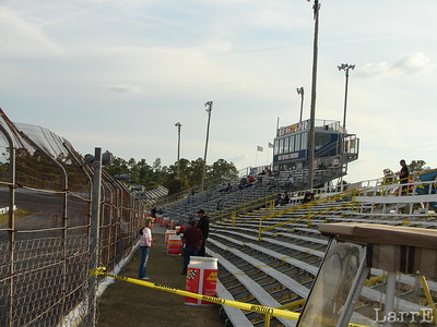 grandstands are ready for a night of racing