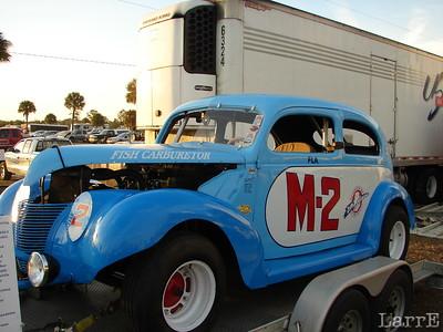 the vintage Fish carburetor car