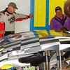 Blewitt watches car pass inspection after winning the feature