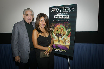 Frank Hernandez Patricia Vasconcelos  2010 Vista Film Festival at Angelika Film Center Dallas Texas 103010 Copyright 2010 Photo by Jerry McClure