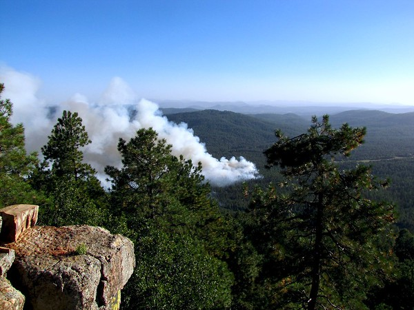 Forest fire south of Highway 260 (2016)