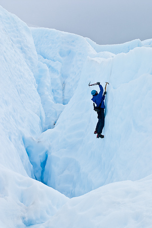 Ice climbing the Perito Moreno Glacier, Patagonia (Argentina)