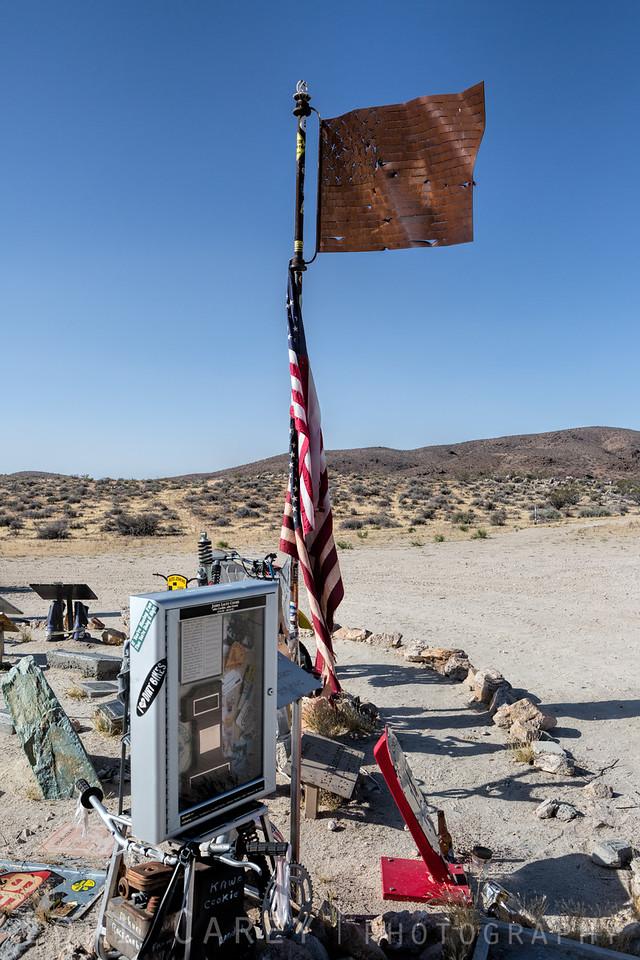Husky Monument, Mojave Desert