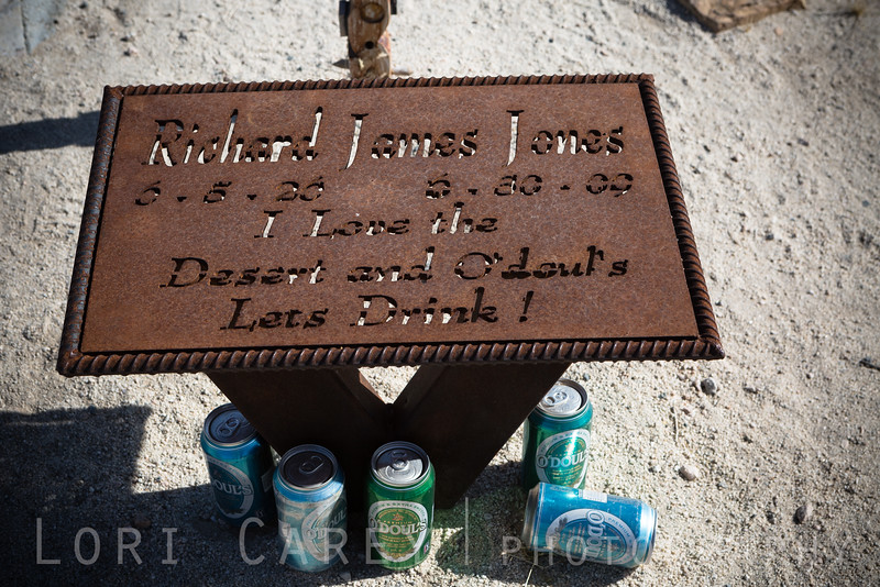 Richard James Jones 6-5-26 to 6/30/09. Husky Monument, Mojave Desert