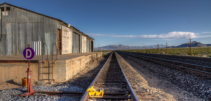 Nipton, California.  Union Pacific Railroad siding for the Molycorp Mine.