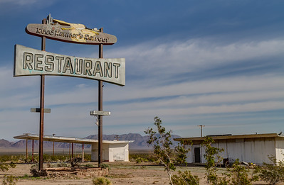 189 Roadrunner Cafe and Gas Station on Route 66, Chambless, California.