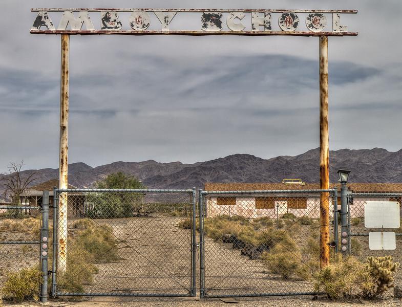 165 Amboy School on Route 66, Amboy, California.