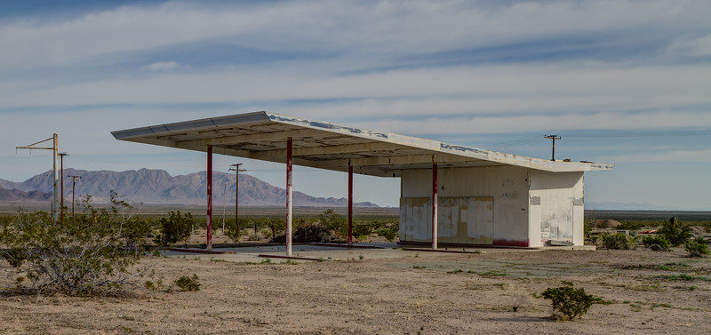 188 Roadrunner Cafe and Gas Station on Route 66, Chambless, California.