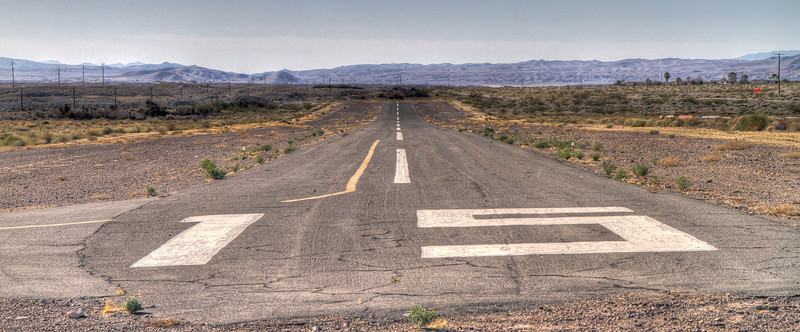 """Runway 15 - Shoshone Airport, FAA Identifier: L61<br /> 2,380 feet long, elevation 1,568,opened March 1948<br />  <a href=""""http://www.airnav.com/airport/L61"""">http://www.airnav.com/airport/L61</a>"""