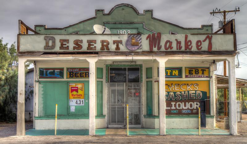 Desert Market on Route 66, Daggett, California.