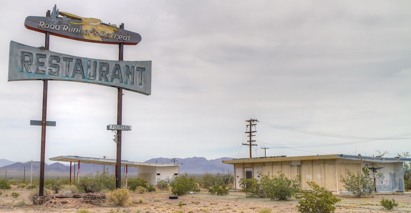 164 Roadrunner Cafe and Gas Station on Route 66, Chambless, California.