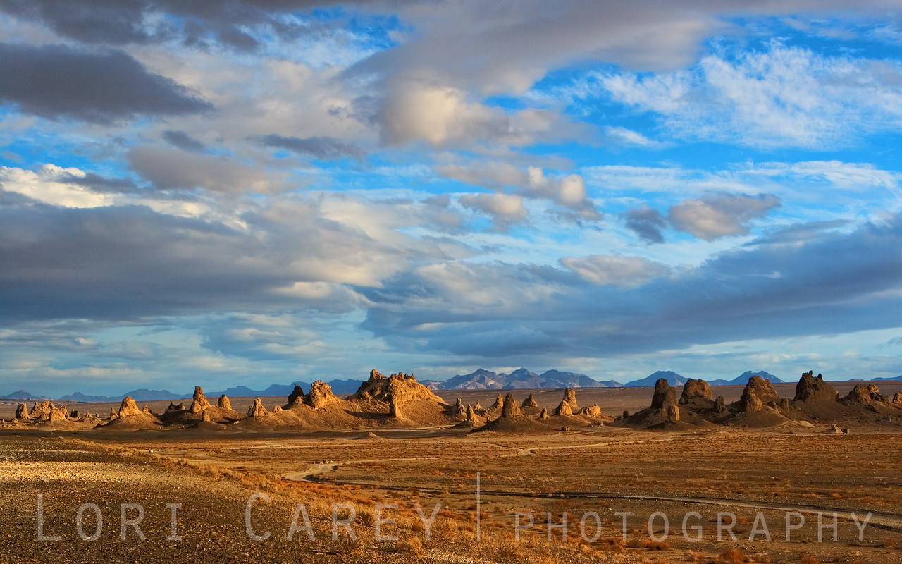 Late afternoon storm blowing in at Trona Pinnacles