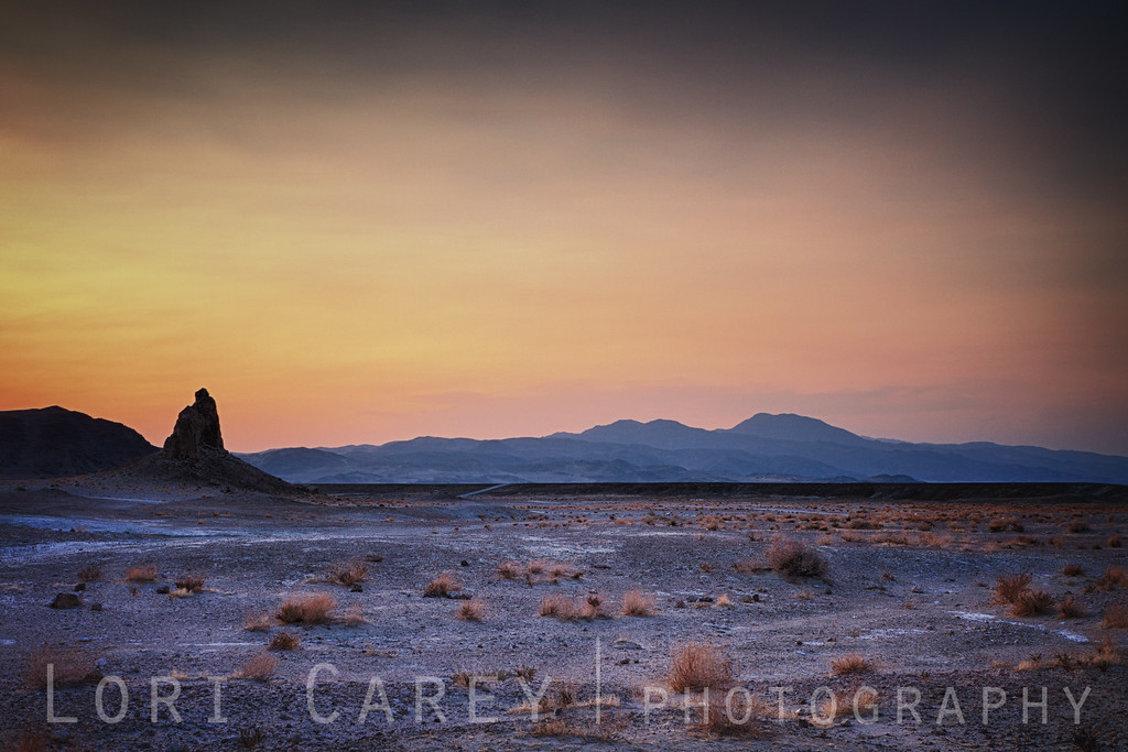 Day's end at Trona Pinnacles