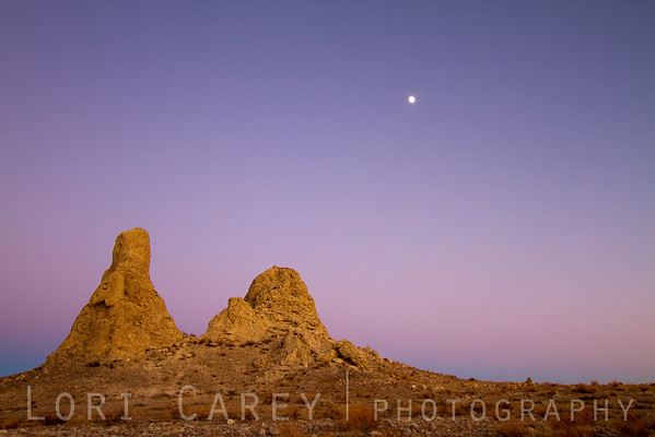Earth shadow, Belt of Venus, Jupiter and Tufa at Trona Pinnacles