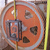 Here is the fly wheel that helped drive the rock crusher.